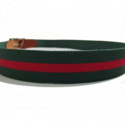 Cinturon en piel de Morgados Piel color negro con costuras y hebilla metalica rf.7111