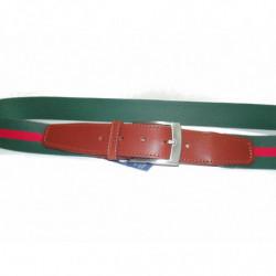 Cinturon en piel de Morgados Piel color negro de hebilla de chapa rf.7002