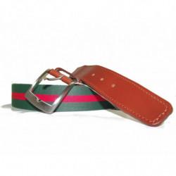 Cinturon en piel de Morgados Piel color marron de hebilla de chapa rf.7002